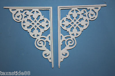"(10) Dutch Colonial Wall Shelf Brackets, Set of 10, 7 1/2"", Cast Iron, B-30"