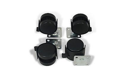 4 Stück Möbelrollen mit Bremse Räder Lenkrolle Bockrollen Laufrollen 40mm