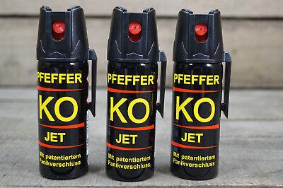 Ballistol Pfefferspray 3 x 50 ml 11% OC Tierabwehrspray JET STRAHL 10,66€/100ml