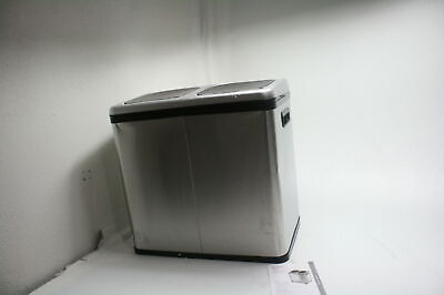 iTouchless IT16RES 16 Gallon Sensor Trash Can Recycle Dual Bin Stainless Steel