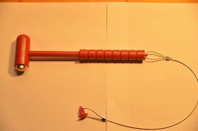 5lb Fire Extinguisher Cabinet Glass Breaker Bar Hammer Style Red