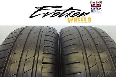 1956015 HANKOOK 195 60 15 88H KIN ENERGY ECO Used Part Worn 6+mm x 2 Tyres