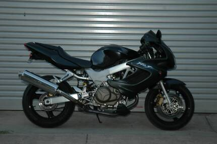 Honda VTR1000, 6 month warranty, pipes, history, pristine example