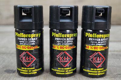 Pfefferspray 3 x 40 ml 12% OC-Gehalt Tierabwehrspray BREITSTRAHL (11,65€/100ml)