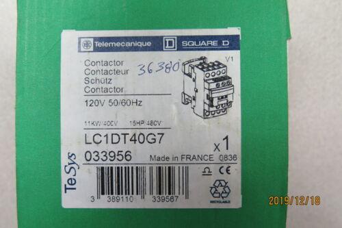 TELEMECANIQUE SQUARE D CONTACTOR LC1DT40G7