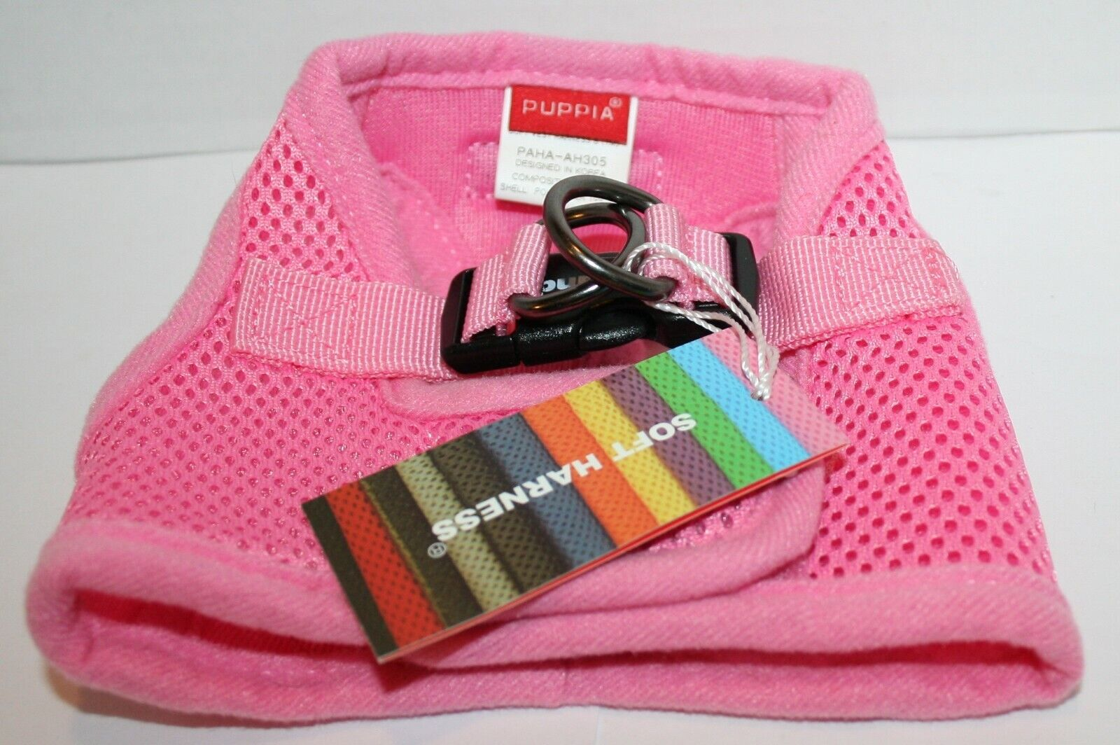 Puppia Soft Mesh Padded Dog Step-In Vest Harness - Pink Smal