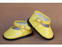 """18/"""" Sasha Tiny Chatty Baby DOLL Shoes 68mm WHITE Heart Cut fit Bitty Baby"""