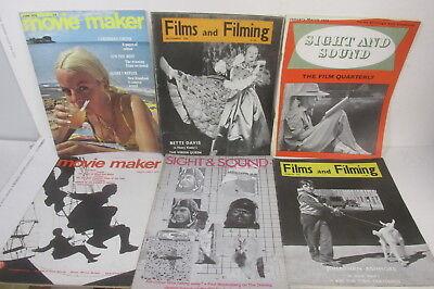 Movie retro journals set x 6 - Sight & Sound, Films & Filming, Movie Maker