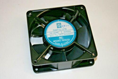 "Orion® ORIOOA4715-12TB 120VAC - 110CFM - 300RPM Fan 4.7"" x 4.7"" x 1.5"" (101-725)"