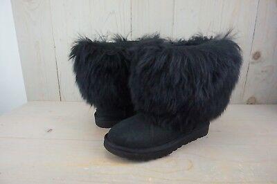UGG SHEEPSKIN CUFF FUR MONGOLIAN FLUFFY  WOMENS BOOTS US 8 NEW](Fluffy Boots)