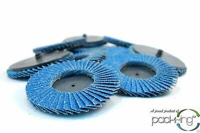 10pk 3 Inch 40 Grit Flap Sanding Disc Wheels Type R Roloc Threaded Twist Lock