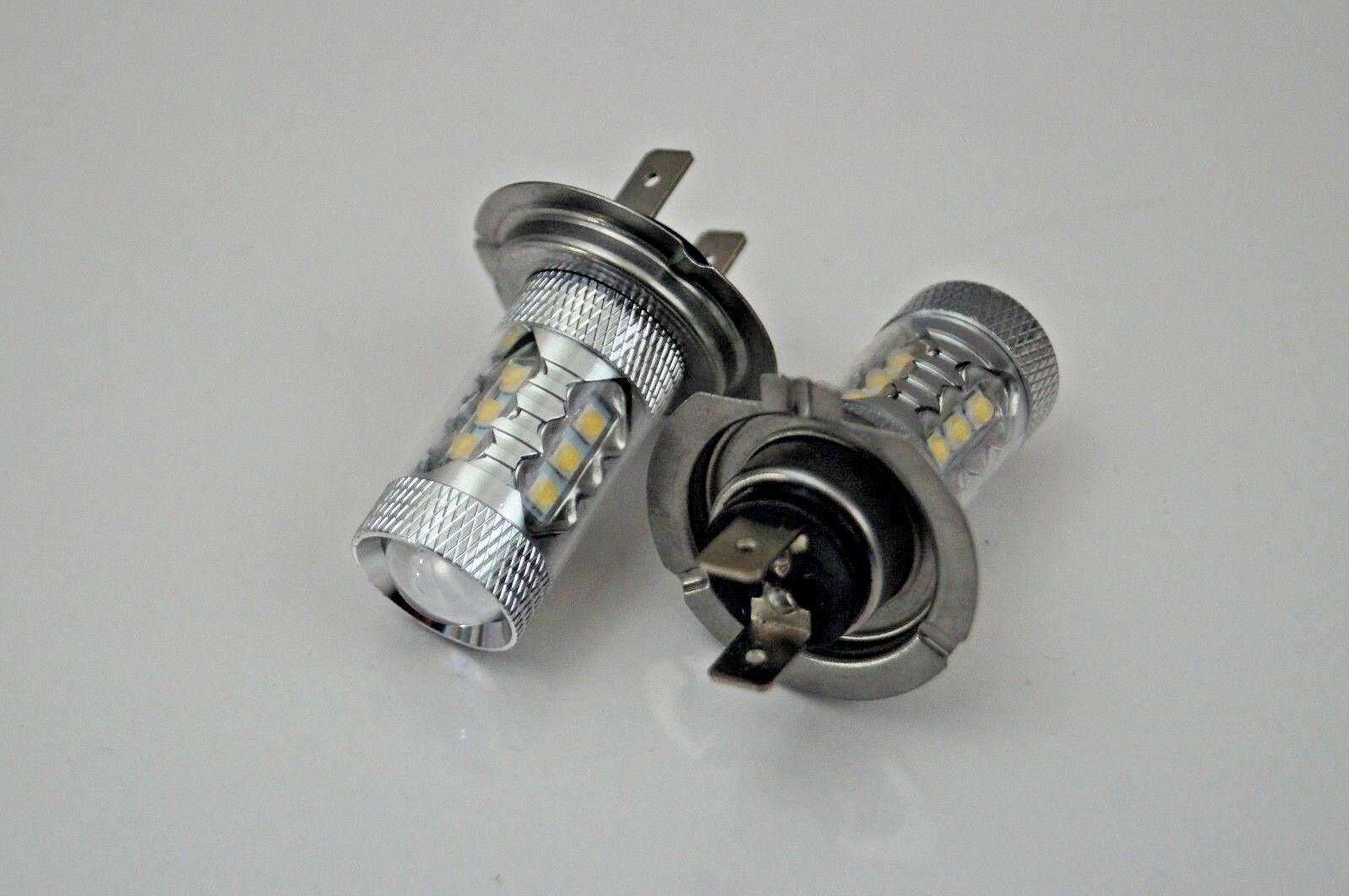 VW GOLF MK4 97-06 SET 2x H7 CREE 16 LED HEADLIGHT BULBS FOG LIGHTS BEST QUALITY