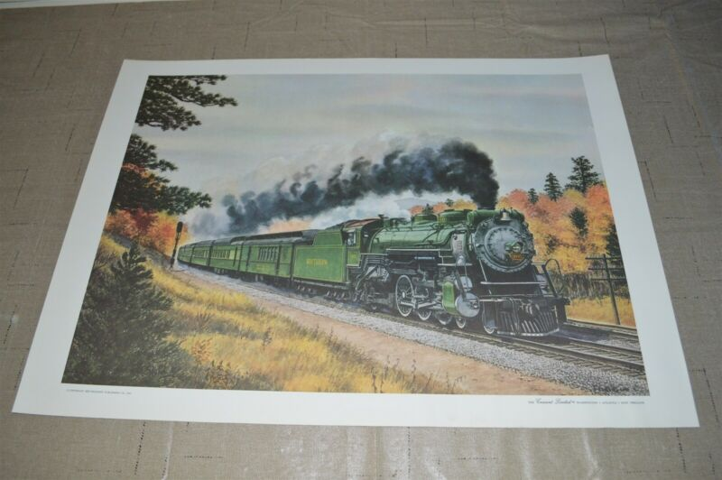 Southern Railroad Poster Steam Engine Passenger Train Crescent Limited by FOGG