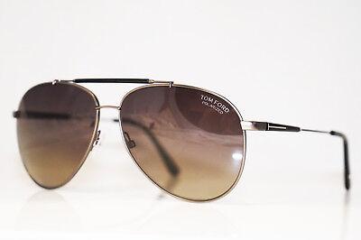22b75dca89f6 TOM FORD Mens Designer Polarized Sunglasses Silver Pilot RICK TF378 10D  16408