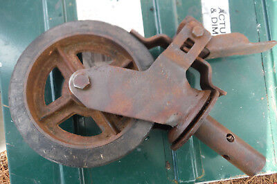 Vintage Castor For Scaffold With Brake 8 Inches Diameter