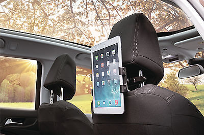 Tablet Mount / Holder for Car Seat Headrest – Tilt Swivel & 360 Degree Rotation