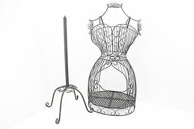 Mygift Vintage Designers Black Metal Adjustable Wire Frame Dress Form Display
