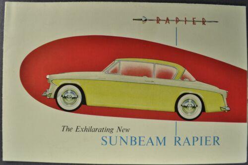 1956 Sunbeam Rapier Sales Brochure Folder Hardtop Coupe Excellent Original 56