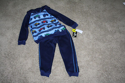 - NWT LITTLE REBELS TODDLER BOY OUTFIT NAVY/LIGHT BLUE HOODIE NAVY BLUE PANTS - 3T