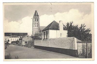 "oude postkaart  van Oudenaarde Smallendam en St-Walburgakerk,zie Foto""s ,B 9,,"