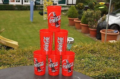 Coca Cola Becher - Coca Cola Plastikbecher - Coca Cola Becher 6 Stück +++