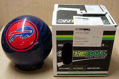 15 Bowling Ball Otbb Viz-a-ball Rare 2010 Nfl Buffalo Bills