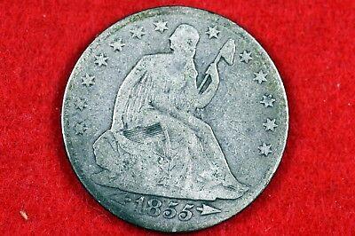 ESTATE FIND 1855 - O W/ARROWS Seated Liberty Half Dollar  #H10918
