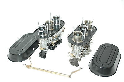 Porsche 911 Weber 46IDA Carburetors with black rain guards