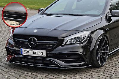 Spoilerschwert Frontspoiler ABS Mercedes CLA 45 AMG C117 ABE schwarz glänzend