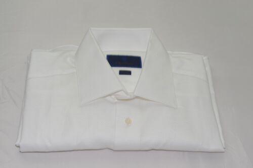$135 NWOT David Donahue Trim Fit French Cuff Tuxedo or Dress Shirt 16 1/2- 36/37