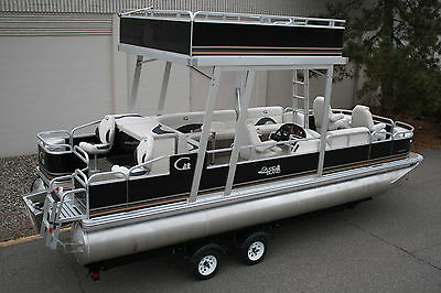Special---New  24 Ft Fish And Fun  pontoon boat with swim roof