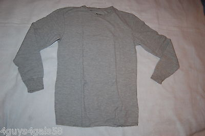 - Mens Long Underwear Shirt GRAY THERMAL CREW NECK TOP Waffle Knit 2XL 50-52
