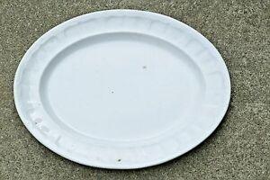 "John Edwards White English Ironstone 14"" President Shape Serving Platter 1856"