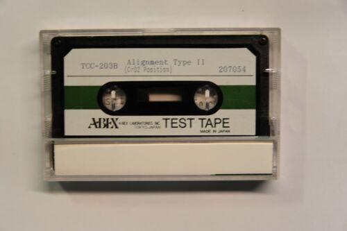 ABEX Blank Alignment Test Tape TCC-203B, New