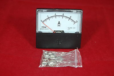 Dc 10a Analog Ammeter Panel Amp Current Meter Dc 0-10a 6070mm Directly Connect