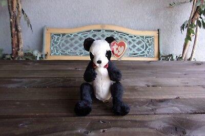 Ty Attic Treasures Panda Bear Vintage Beanie Baby Bean Bag Plush (Beanie Babies Bean Bag Plush)