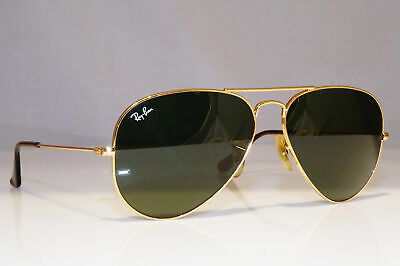 RAY-BAN Mens Designer Sunglasses Gold Pilot AVIATOR RB 3025 001 25899