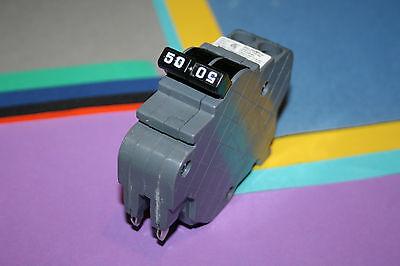 1 Federal Pacific Ubi 50 Amp 2-pole Type Nc Breaker Thin