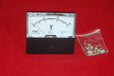 Ac 0-15v Analog Voltmeter Analogue Voltage Panel Meter 6070mm Directly Connect