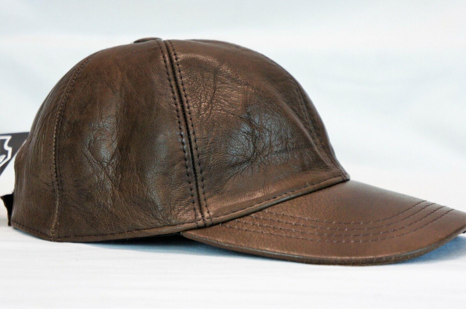 New 100/% Genuine Real Lambskin Leather Baseball Cap Hat Sport Visor 12 COLORS
