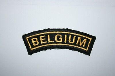 BELGIUM CLOTH ARMY SHOULDER TITLE MERCENARY COMMANDO DOGS OF WAR RELATED