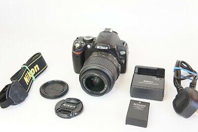 Nikon D60 10.2MP Digital SLR Camera - Black (Kit w/ 18-55mm VR Lens)