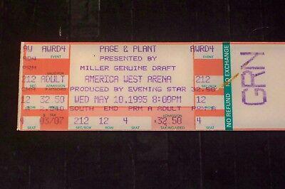 Led Usa Tickets (JIMMY PAGE ROBERT PLANT 1995 TICKET STUB AMERICA WEST ARENA PHOENIX LED)