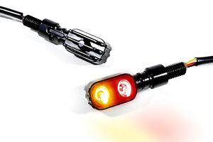 LED Mini Rücklicht Bremslicht Blinker schwarz Motorrad universal Custom Chopper