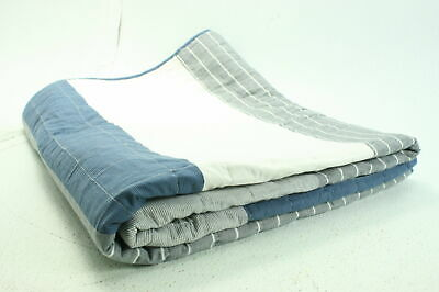 Nautica USHSGR1034988 Swale Blue King Sized Yarn Dyed Cotton Quilt Navy Blue