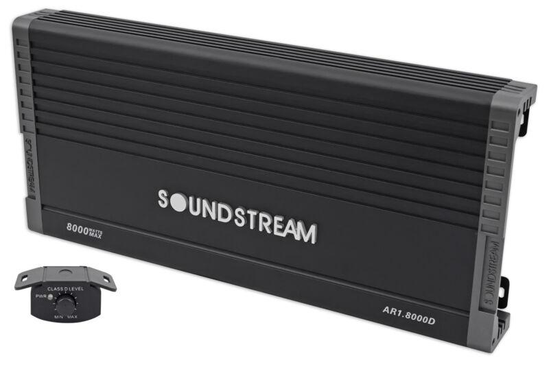SOUNDSTREAM AR1.8000D ARACHNID Series 8000 Watt Mono Amplifier 1-Ohm Class D Amp
