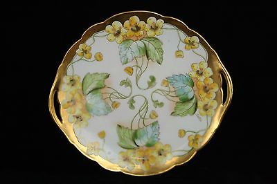 PICKARD CHINA ARTIST SIGNED BEUTLICH PORCELAIN GOLD HAND PAINTED PLATE LIMOGES