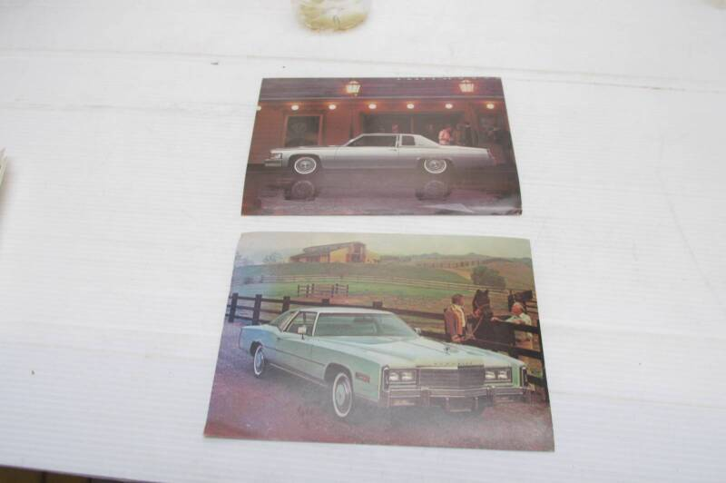 2 New Old Stock Eldorado Cadillac Post Cards
