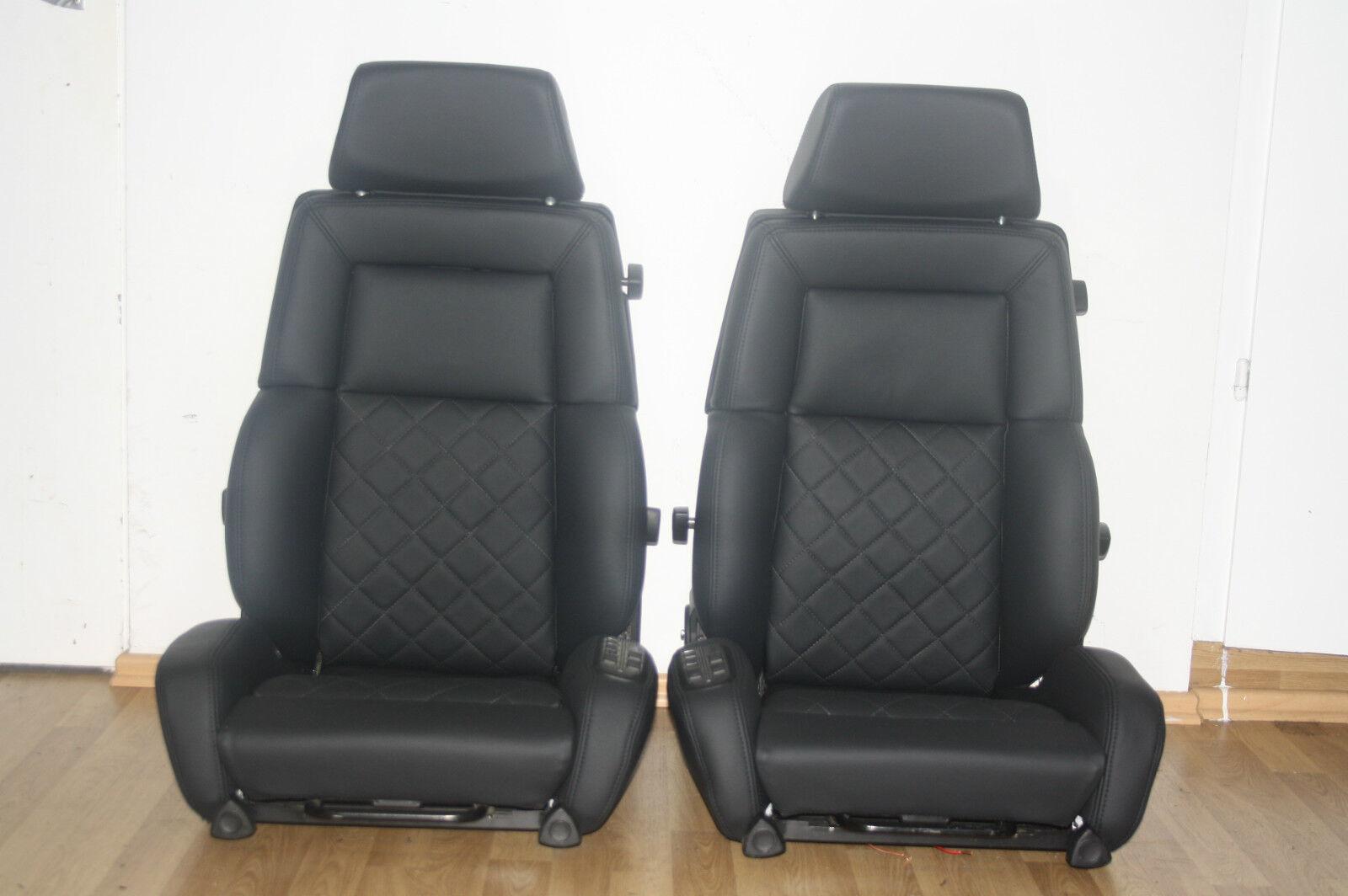 2 recaro c classic mercedes r107 sitze leder neu bezogen. Black Bedroom Furniture Sets. Home Design Ideas