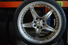 """4 SET 17"""" MAG WHEELS WITH TYRE + MULTI 4 STUDS + GOOD CONDITION Virginia Brisbane North East Preview"""